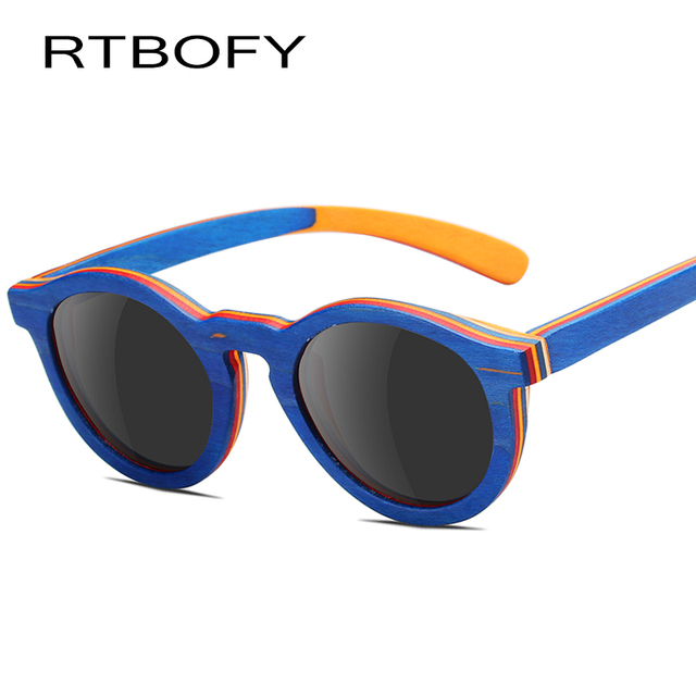 RTBOFY Polarized Children Wood Sunglasses Boys Glasses Children Sunglasses  Girls Mirror Baby Polaroid kids Sun Glasses UV400 64b74b19cc
