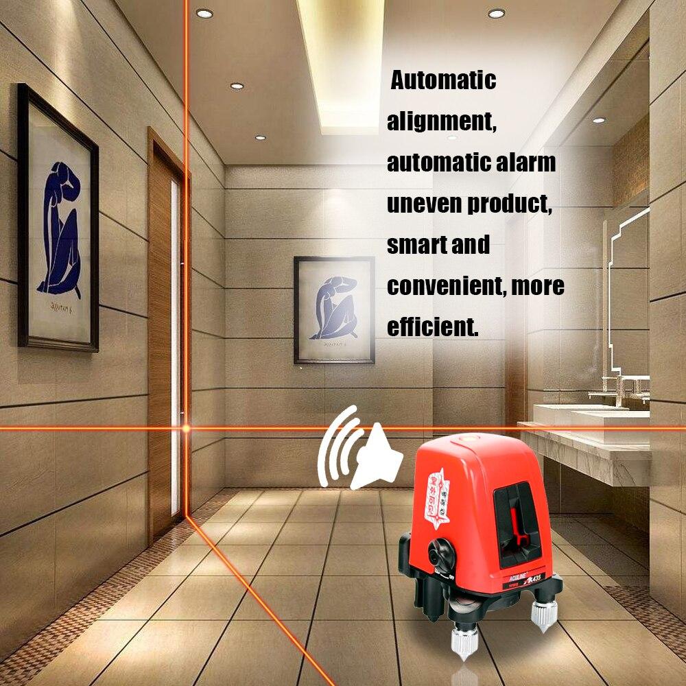 Uso domestico Self-leveling Linea Trasversale Laser 2 Linea 1 Dot Horizonatal Verticale Linea Rossa Lazer Livello Mini Portatile 360 Gradi