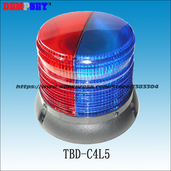 Lumières De Feu Menées | TBD-C4L1 Ronde Plafond, D'urgence Avertissement Lumière, DC12V/24 V Feu/police/Du Véhicule Sur Le Toit Rouge LED Magnétique Clignotant Avertissement Lumière