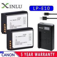Прямая поставка 1850 мАч LP-E10 LP E10 LPE10 батарея для цифровой камеры Canon 1100D 1200D 1300D Rebel T3 T5 KISS X50 X70