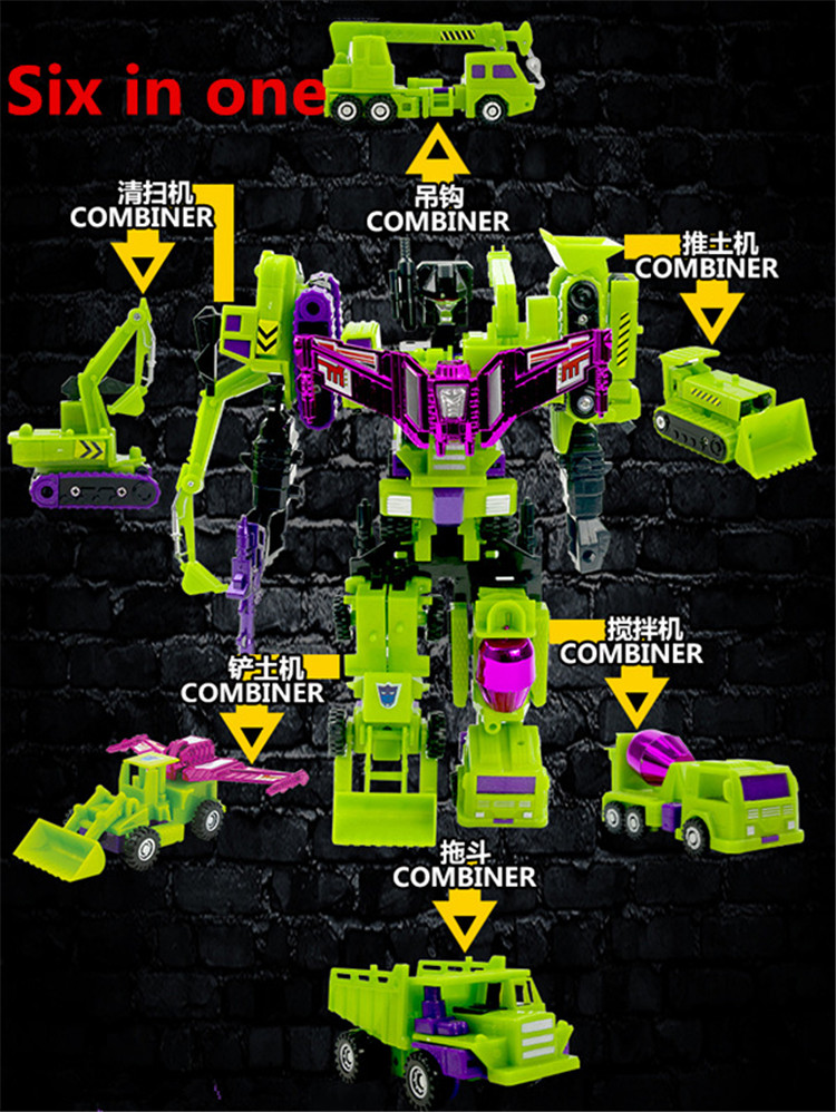 Transformation Robot Engineering Cars Devastator Plastic 24-27cm Education-Toy Vehicle