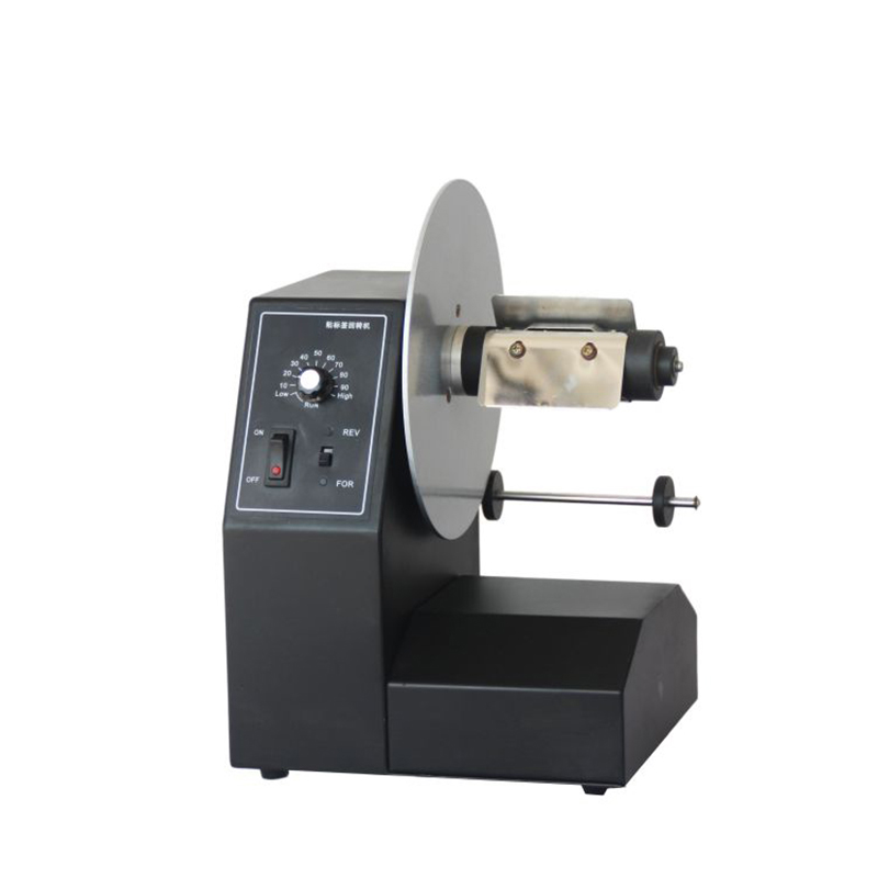 220V Laundry label rewind machine Stickers automatic rewind machine  E10037 wrap around sizing label 33x32 250 stickers