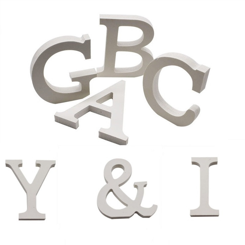 26 Alphabet A-Z Wood Wooden Letter DIY Craft Art Word Free Standing Party Sign Wedding Home Decoration Event Party Supplies