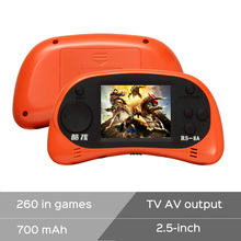 New 2016 Coolbaby RS-8A 8 Bit 2.5″ handheld game console Built-in 260 Different Games Video Game Console Children Christmas gift