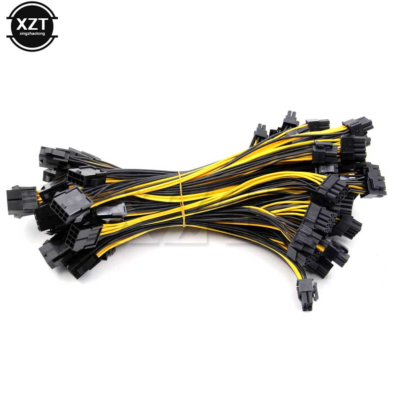 Dual 4pin IDE to 8Pin PCI-E Power Cable for VGA Video Graphic Card 2pcs//lot