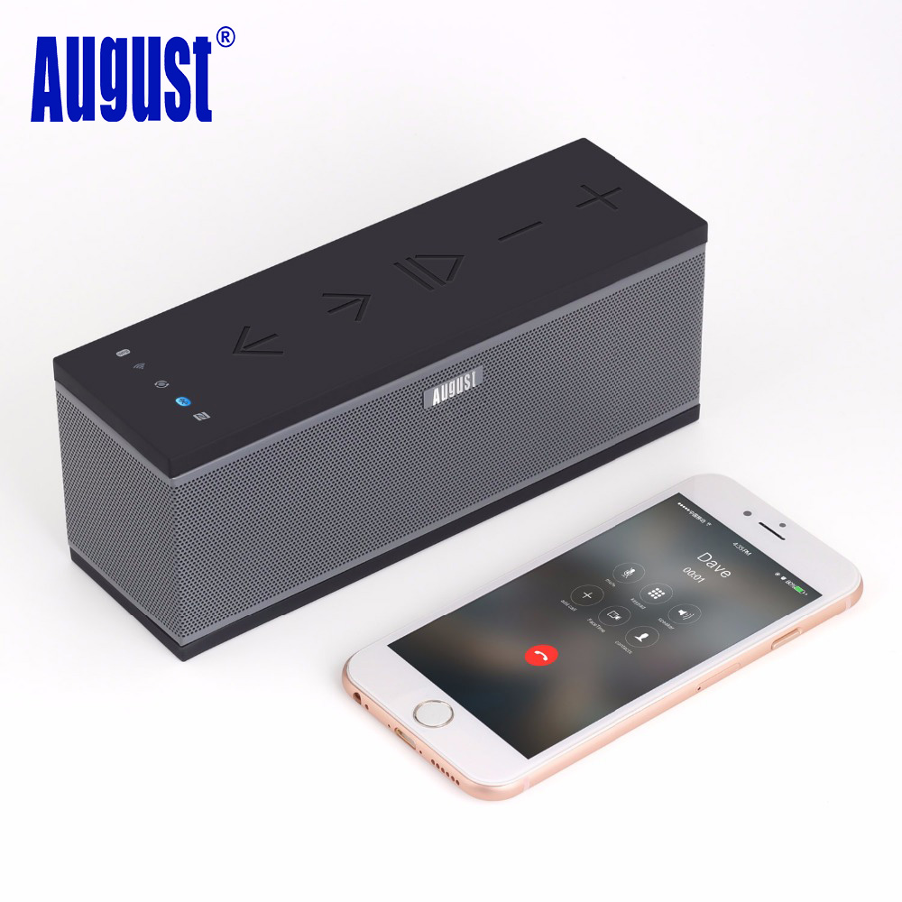 August WS300 Wireless WIFI Speaker for Multiroom Portable Bluetooth Speakers for Streaming Music Airplay / Spotify / Tidal 15W