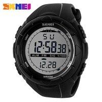 SKMEI Mode Einfache Sport uhr Männer Military Uhren Wecker Stoßfest Wasserdichte Digital Uhr reloj hombre 1025