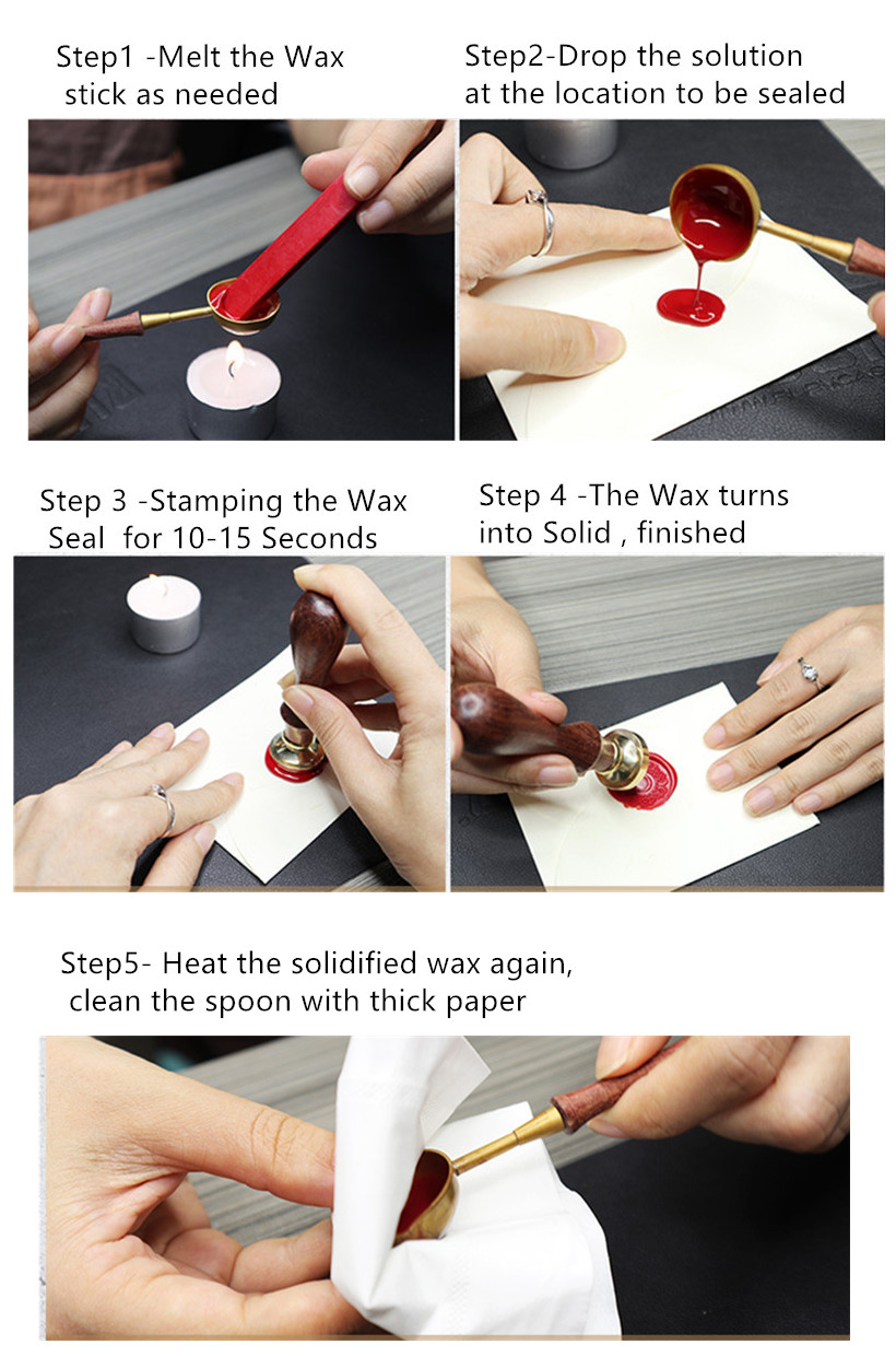 Instruction Steps of Wax Spoon