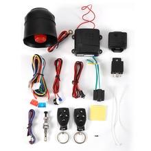 NUEVA Caliente sale1-Way Sistema Del Vehículo de Alarma de Coche Sistema de Seguridad Protección Keyless Entry Siren + 2 Control Remoto Antirrobo