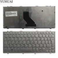 New Russian Laptop keyboard for Toshiba Satellite NB200 NB205 NB200 10Z NSK TJ00R RU layout silver