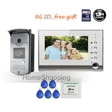 FREE SHIPPING BRAND 7 Home Video Intercom font b Door b font phone Recoder System 1