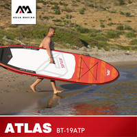 AQUA MARINA ATLAS Surf Board Inflatable Surfing Boards Water Sup Board Paddle Surf Boards Stand Up Paddleboard 366*84*15cm