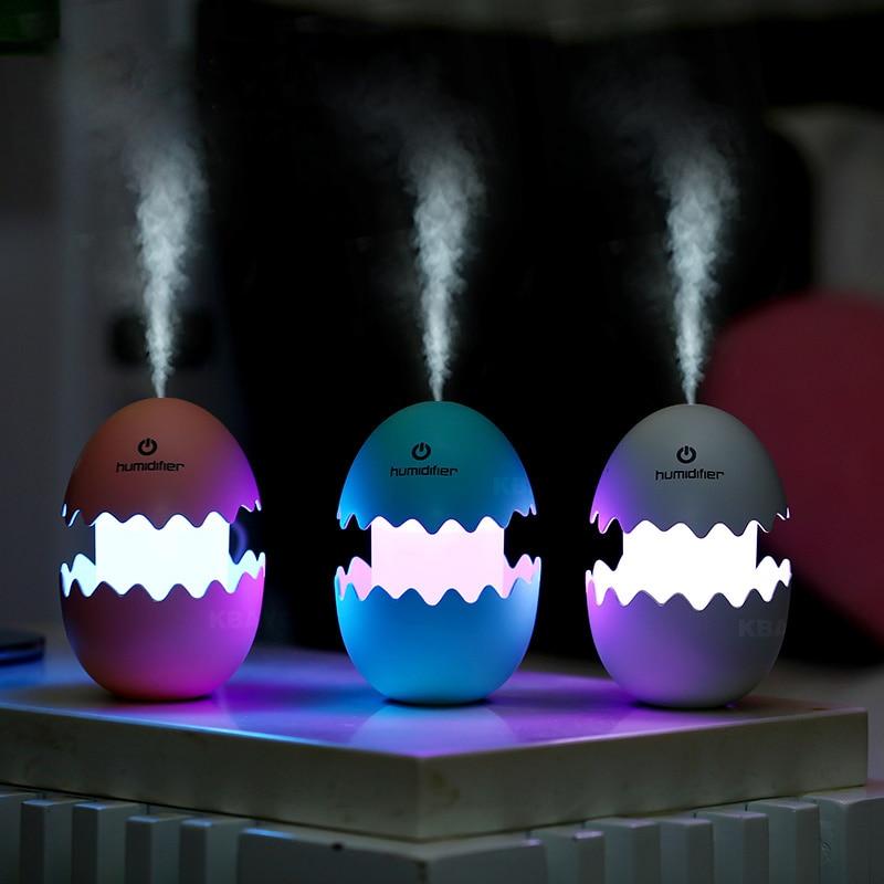 Egg USB Air Humidifier LED Lights Ultrasonic Aroma Diffuser Essential Oil Mist Maker Mini Car Air PurifierEgg USB Air Humidifier LED Lights Ultrasonic Aroma Diffuser Essential Oil Mist Maker Mini Car Air Purifier