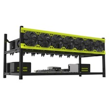 Hot Sale Practical Veddha V3D8 GPU Mining Rig Aluminum Alloy Stackable Graphics Case Up To 8 GPU Open Air Frame Rack Bracket