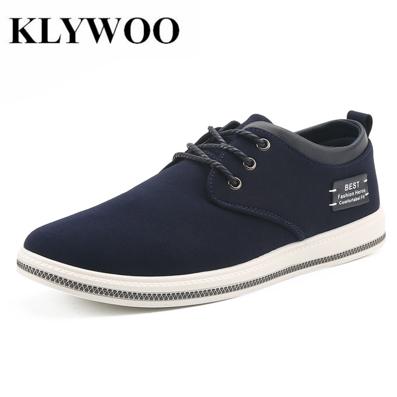 KLYWOO Big Size 39-47 Breathable Sneakers Men Casual Shoes Autumn Fashion Boat Shoes Men Krasovki Comfortable Leather Shoes Men