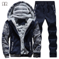 winter men sweat suits fleece warm mens tracksuit set casual jogger suits sportsuit cool jacket pants and sweatshirt set 2016