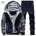 winter men sweat suits fleece warm mens tracksuit set casual jogger suits sportsuit cool jacket pants and sweatshirt set 2016