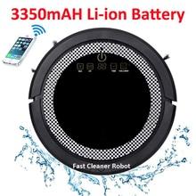 WIFI Smartphone App Control Súper fuerte Poder de succión Automática robot aspiradora QQ6 Actualizar con Tanque de Agua, batería de Litio