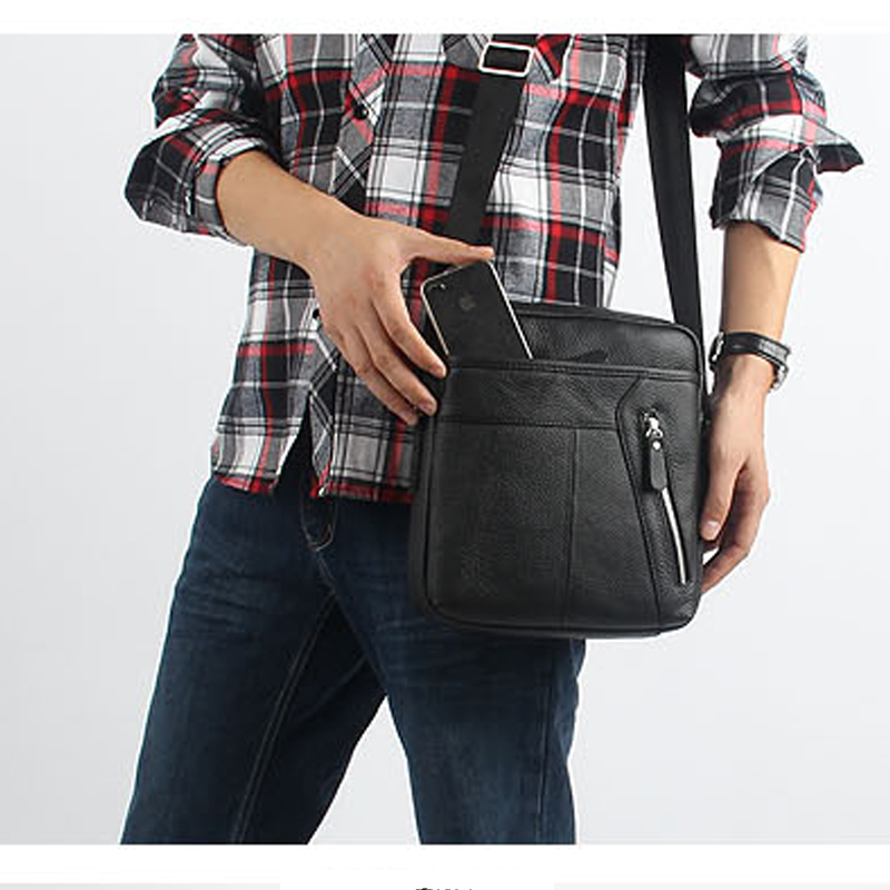 Genuine leather messenger bags man bag fashionable casual messenger bag  2015 male cowhide shoulder bag for men man messenger bags 2015 leather messenger bags