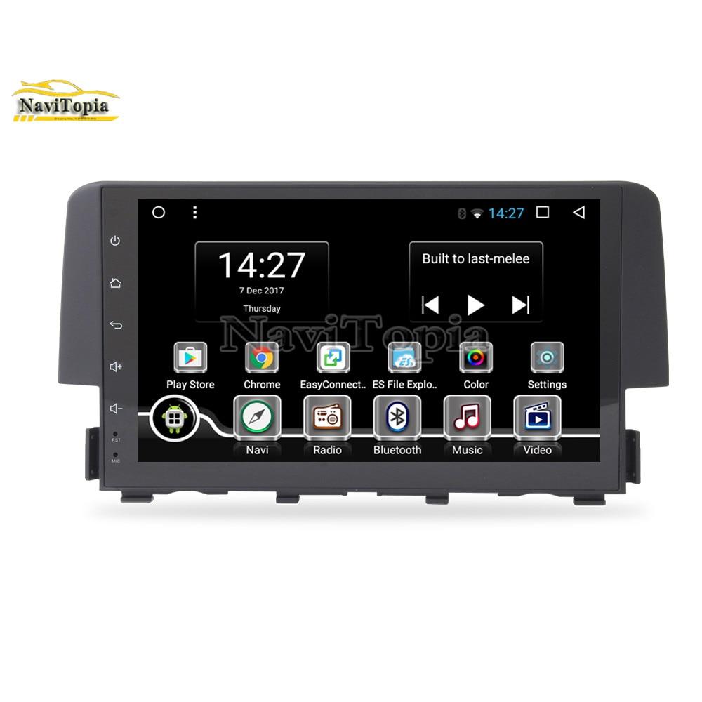 Honda Civic Indash Navigation 2017: NAVITOPIA 8 Core 2G+32G Octa Core Android 8.1 Car DVD GPS