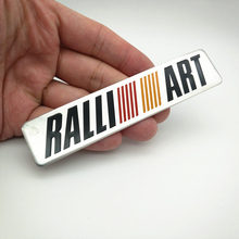 FDIK RALLI ART Car Aluminum Sticker Decal Auto Sports Ralliart For mitsubishi lancer asx outlander pajero galant accessories цена