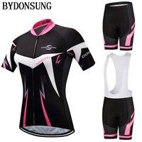Brand Outdoor Sport Cycling Jersey Set 2019 MTB Sets Bike Clothing Bicycle Wear Women Cycling Short Sleeve Bib Jersey Sets