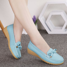 цена на COOLVFATBO 2019 Spring women flats shoes women genuine leather shoes woman cutout loafers slip on ballet flats ballerines flats