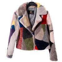 ノーブルリアル毛皮のシープスキンのコート冬のファッションウールコート女