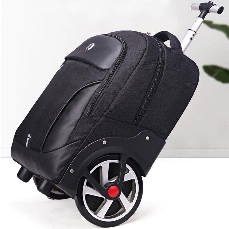 2018 Nieuwe 18 20 inch zakenreis mode trolley Grote wiel koffers en reistassen valies cabine mala koffer rolling bagage-in Trolley van Bagage & Tassen op  Groep 1