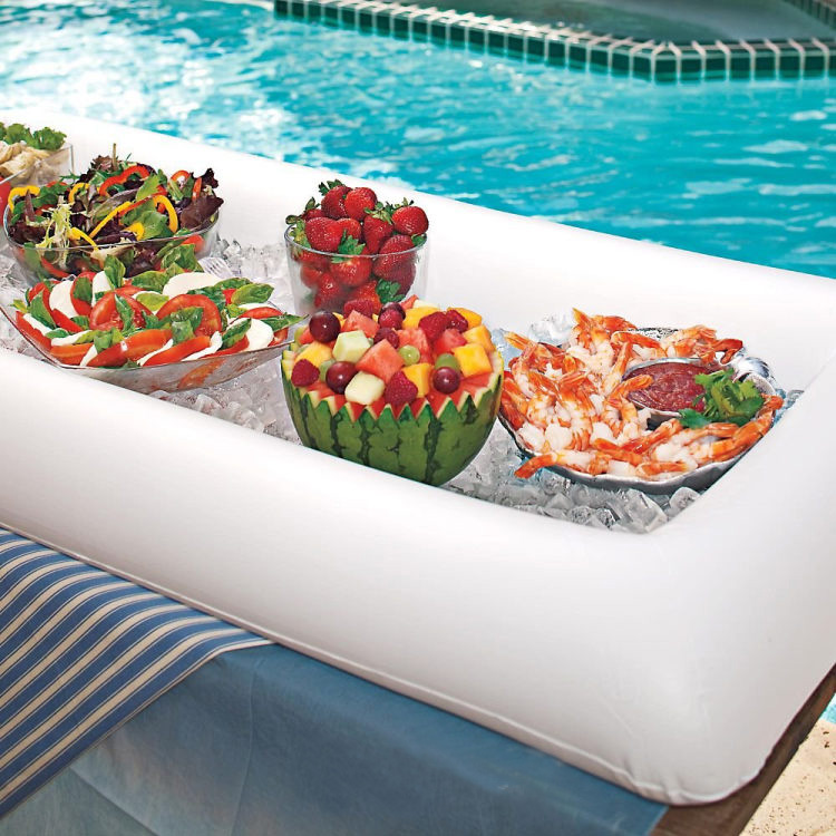 Summer Party Inflatable Salad Bar Buffet Ice Bucket Outdoor Swimming Pool Decoration Food Supplies Toy Fun Gift Wedding Birthday In Bath From Toys