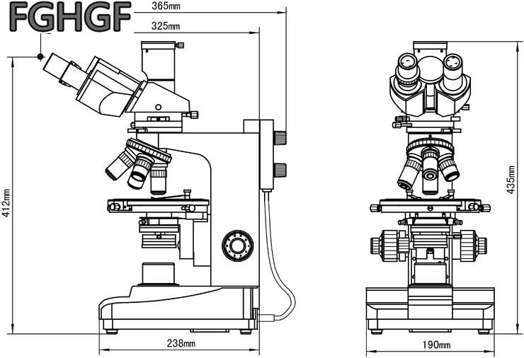 50X 600X Transmission And Reflection Polarized Light Microscope
