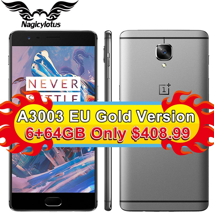 New Original Oneplus 3 one plus Three Mobile Phone 6GB RAM 64GB ROM Snapdragon 820 Quad Core 5.5″ HD Android 6.0 LTE Fingerprint