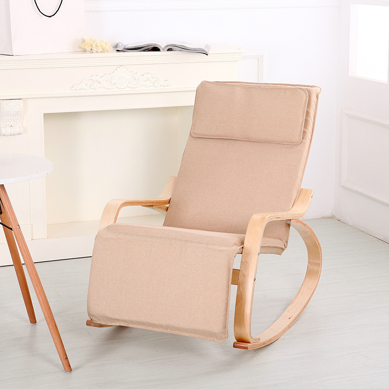 High Quality Wood Balcony Chair Lazy Leisure Chair Outdoor Comfortable Sun  Lounger Rocking Chair Soft House Furniture In Sun Loungers From Furniture  On ...