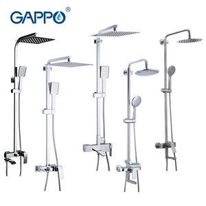 Image 1 - GAPPO Bath Shower System Wall Mounted Rainfall Head Shower Faucet Single Handle Bathroom Shower Set Waterfall Massage Jets Spout