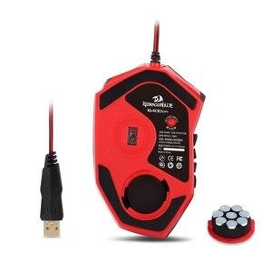 Image 5 - Redragon souris Laser Gaming filaire M901, de grande taille, 24000 DPI, Programmable, pour ordinateur
