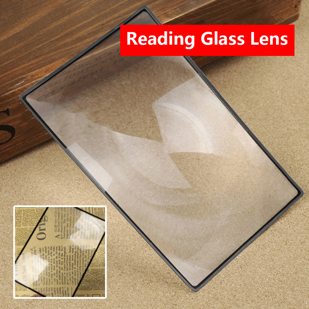 X3 Book Page Magnification 180X120mm Convinient A5 Flat PVC Magnifier Sheet Magnifying Reading Glass Lens full page magnifying sheet fresnel lens 3x magnification pvc magnifier