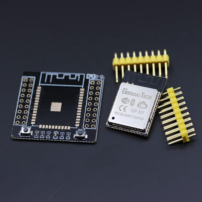 2017 высокое качество ESP-32F Bluetooth и WI-FI двухъядерный Процессор IOT Wi-Fi WLAN BLE модуль + ESP32F совета адаптер для Arduino ESP-32