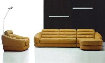 Бесплатная Доставка Последние Французский Дизайн Натуральная Кожа Г-Образный Угловой Диван и Кресла с Шезлонгом Ленивый Диван LA006