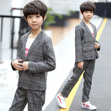 Fashion Slim Fit Children Prom Wedding Suits for Boys Kids Tuxedo Suit Child Blazer Two-Piece Suit Teenagers Formal Outfit 4-13Y цена