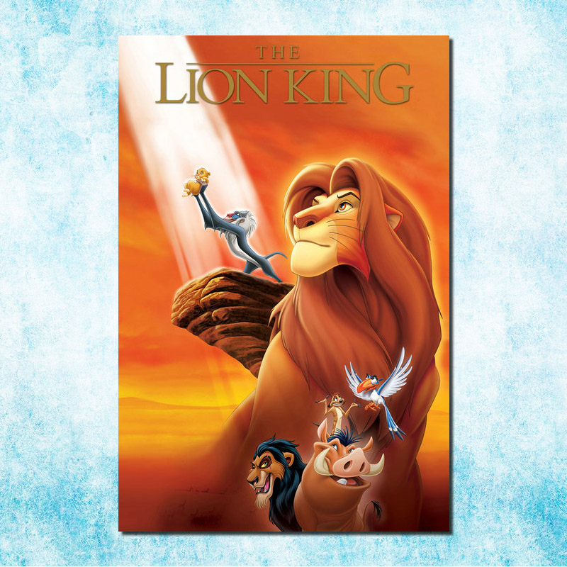 Us 446 23 Offthe Lion King Movie Art Silk Canvas Poster Print 13x20 24x36 Inch Cartoon Pictures For Bedroom Living Room Decor More 3 In Painting