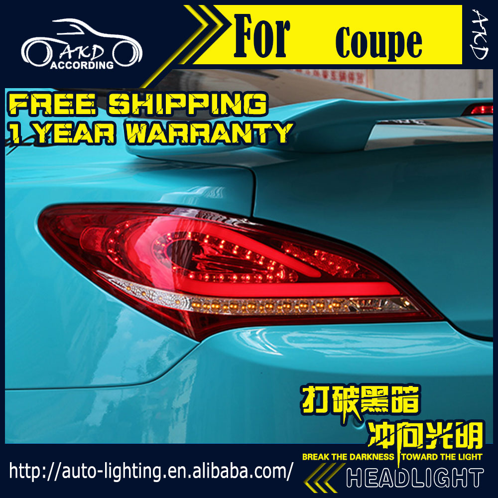 AKD Car Styling Tail Lamp for Hyundai Genesis Coupe Tail Lights LED Tail Light LED Signal LED DRL Stop Rear Lamp Accessories