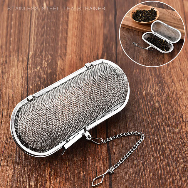 US $0 94 30% OFF Tea Infuser Stainless Steel Wire Fine Mesh Oil Strainer  Flour Sifter Sieve Colanders Cocoa Flour Coffee Sifter Handle Tea Ball-in