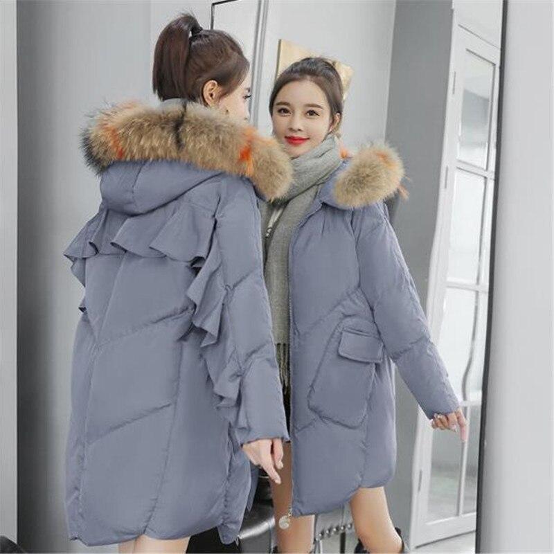 Coton Grande Vêtements Nouvelles Hiver Le De Veste Femmes Haute caramel Colour Black Bas Femelle Vers Chaud 2018 Mode gray Long Épaisse Parka Qualité Taille Manteau wR4qIvp