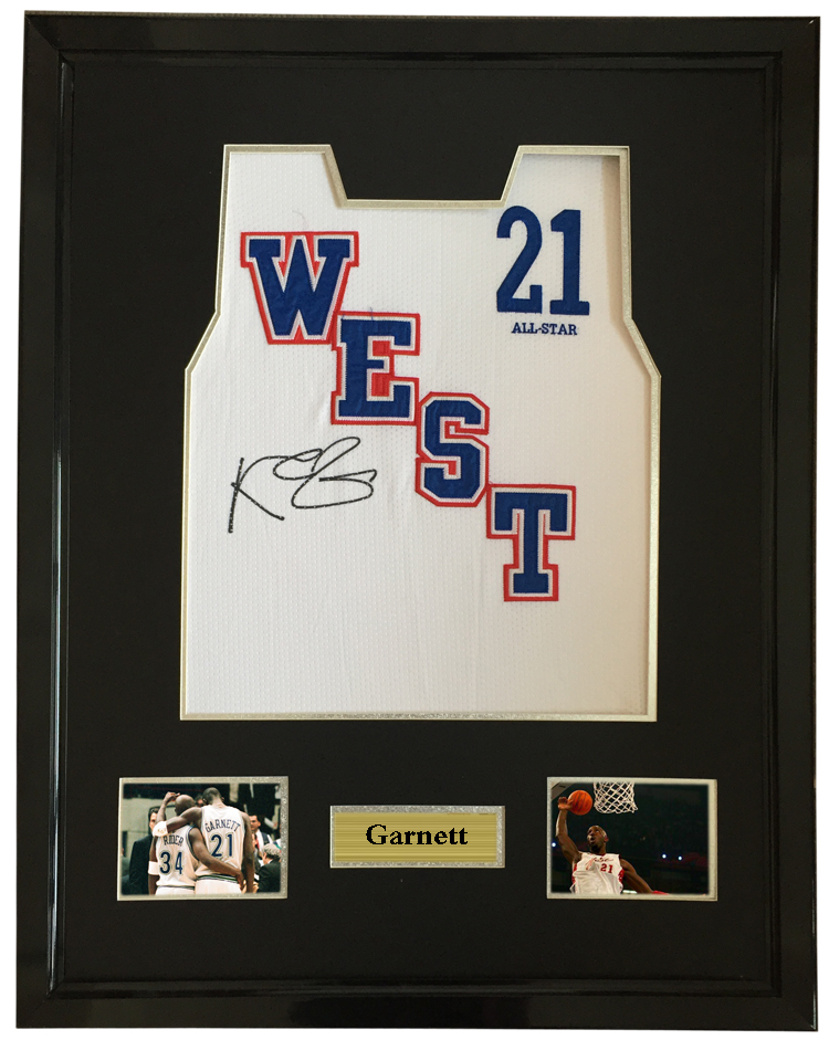 cheap for discount d6ce5 6bda5 US $750.0 |Kevin Garnett signed autographed basketball shirt jersey come  with Sa coa framed All Star Game-in Frame from Home & Garden on ...