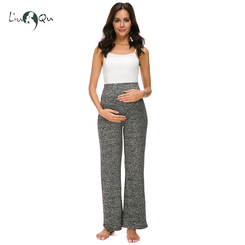 bf8184f4f8 Maternity Wide Straight Versatile Comfy Palazzo Lounge Pants Stretch  Pregnancy Trousers Premaman Pregnancy Pants Hamile Giyim-in Pants   Capris  from Mother ...