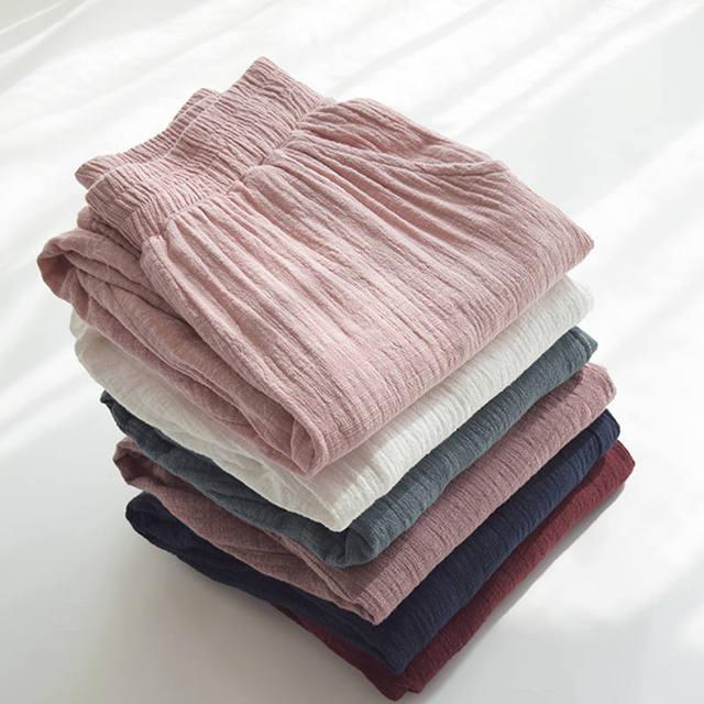 Retro Cotton Linen Trousers Women Spring Summer Casual Elastic Waist Straight Women Pants Pantalon Femme Long Sweatpants C5286 1