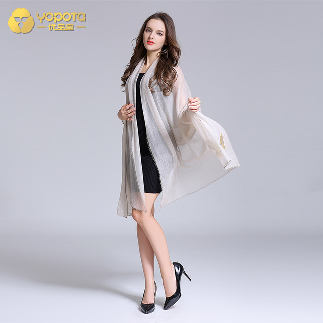 Yopota solid color cashmere luxury scarves stripe oversize long shawl brand new high end scarves topgrade gift free shipping 1