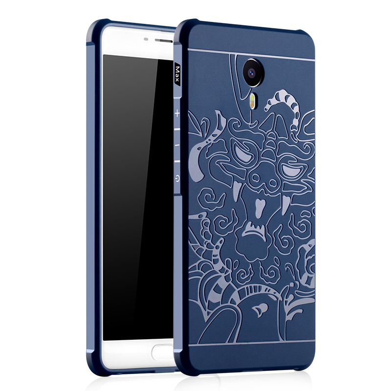 Luxury For Meizu M3 Max Case High Quality 3D Relief Airbag Shockproof Soft Silicone Cover Cases