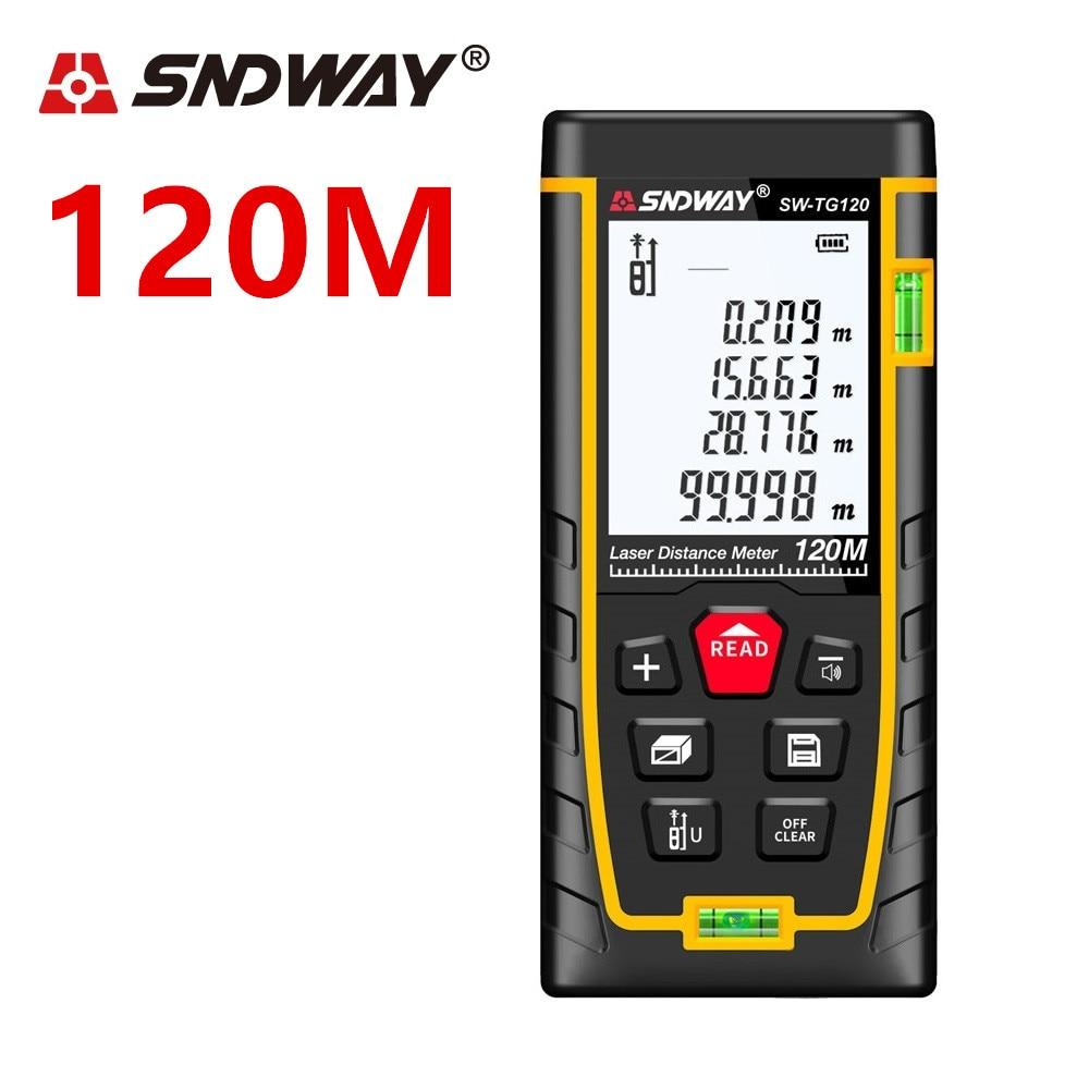 SNDWAY Medidor láser de distancia de 40 m 100 M 120 m láser telémetro láser cinta medida gobernante la ruleta y accesorios osciloscopios trena