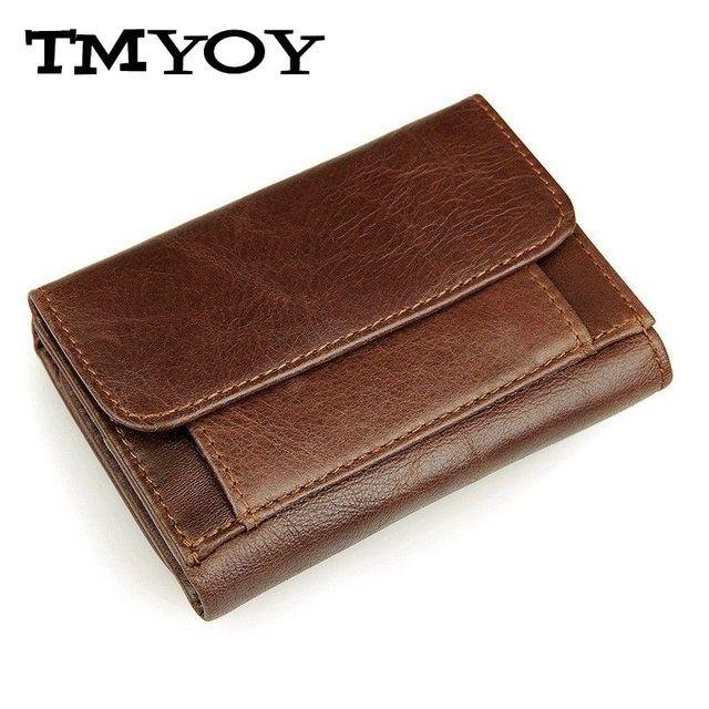 JMD брендовые кожаные Для мужчин кошелек Для мужчин портмоне масла Воск Пояса из натуральной кожи Винтаж мужской держателя карты Малый короткие бумажник carteira jd021